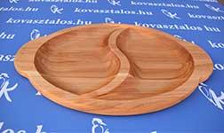 Egyedi készítésű fa tányér, cseresznye fából.